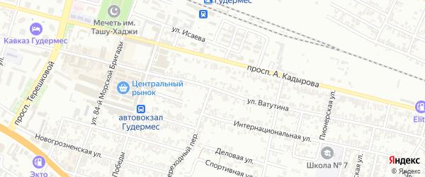 Улица Ватутина на карте Гудермеса с номерами домов