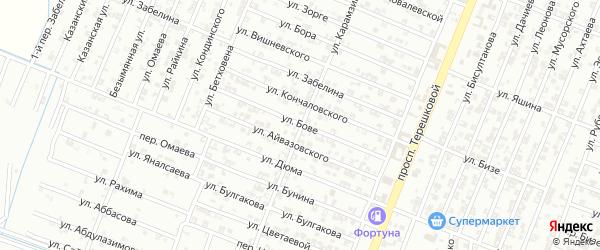 Улица О.Бове на карте Гудермеса с номерами домов