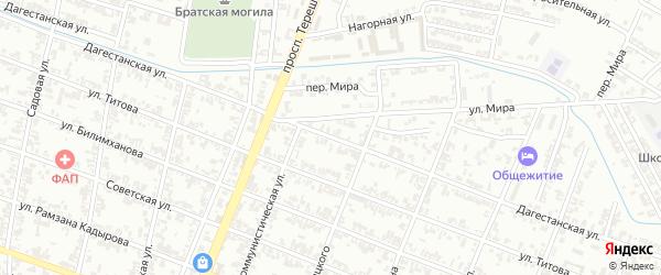 Дагестанская улица на карте Гудермеса с номерами домов