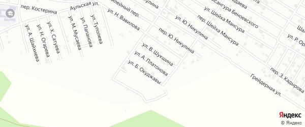 Улица А.Платонова на карте Гудермеса с номерами домов