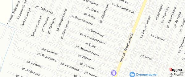 Улица Кончаловского на карте Гудермеса с номерами домов