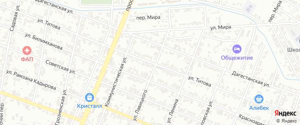 Улица Титова на карте Гудермеса с номерами домов
