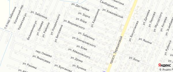 Улица Забелина на карте Гудермеса с номерами домов