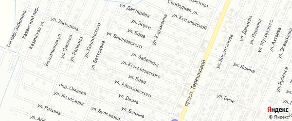 Улица Карамзина на карте Гудермеса с номерами домов