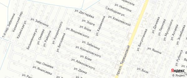 Улица Вишнеского на карте Гудермеса с номерами домов