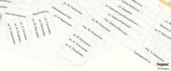 Улица Ф.Ушакова на карте Гудермеса с номерами домов