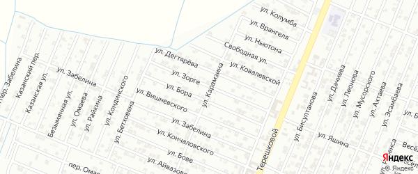 Улица Зорге на карте Гудермеса с номерами домов