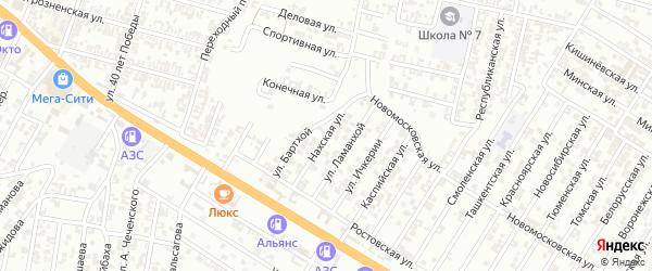 Нахская улица на карте Гудермеса с номерами домов
