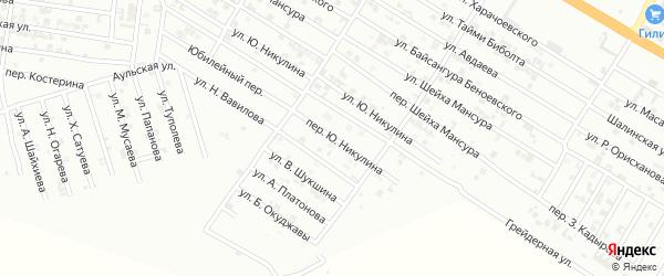 Переулок Ю.Никулина на карте Гудермеса с номерами домов