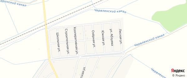 Озерная улица на карте Старо-Щедринская станицы с номерами домов