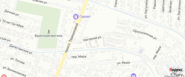 Нагорная улица на карте Гудермеса с номерами домов