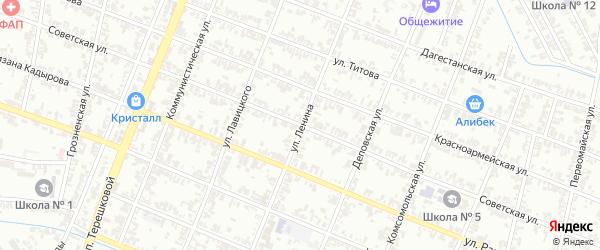 Советская улица на карте Гудермеса с номерами домов