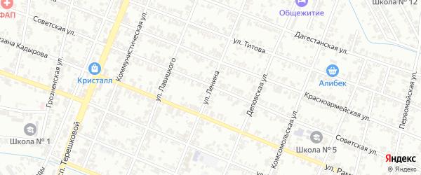 Улица Ленина на карте села Верхнего Герзель с номерами домов