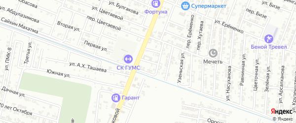 Автодромный переулок на карте Гудермеса с номерами домов