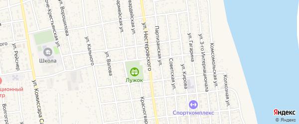 Улица Нестеровского на карте села Черного Яра с номерами домов