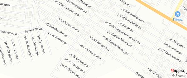 Улица Ю.Никулина на карте Гудермеса с номерами домов