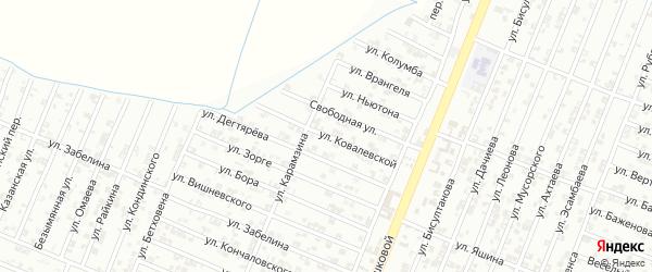 Улица Ковалевской на карте Гудермеса с номерами домов
