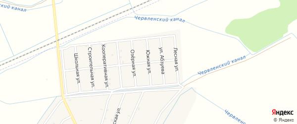 Южная улица на карте Старо-Щедринская станицы с номерами домов