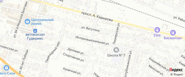 Трудовая улица на карте Гудермеса с номерами домов