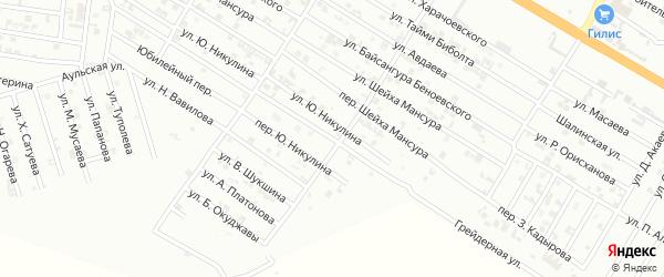 Р.Ахматовой переулок на карте Гудермеса с номерами домов