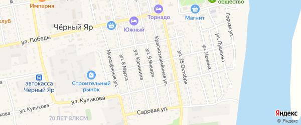 Улица 9 Января на карте села Черного Яра с номерами домов