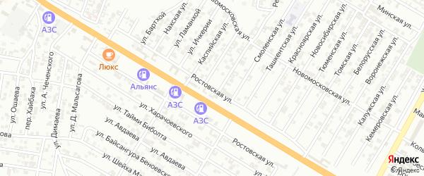 Ростовская улица на карте Гудермеса с номерами домов