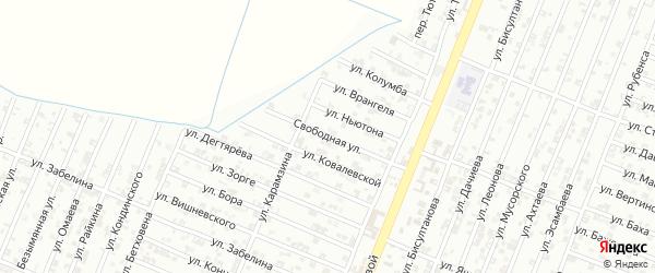 Свободная улица на карте Гудермеса с номерами домов