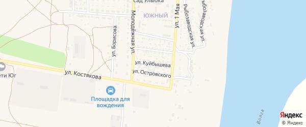 Улица Куйбышева на карте села Черного Яра с номерами домов