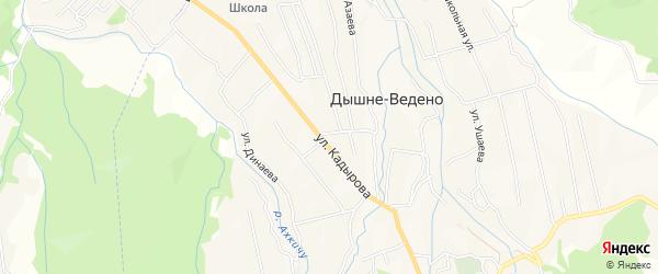 Карта села Ведено в Чечне с улицами и номерами домов