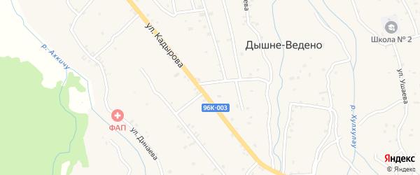 Улица Кирова на карте села Ведено с номерами домов