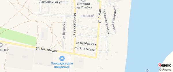 Астраханская улица на карте села Черного Яра с номерами домов