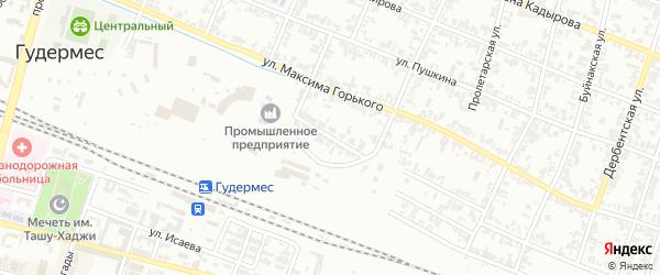 Крупская улица на карте Гудермеса с номерами домов