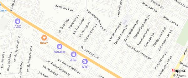 Мелчхинская улица на карте Гудермеса с номерами домов