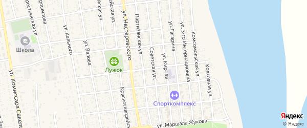 Советская улица на карте села Черного Яра с номерами домов