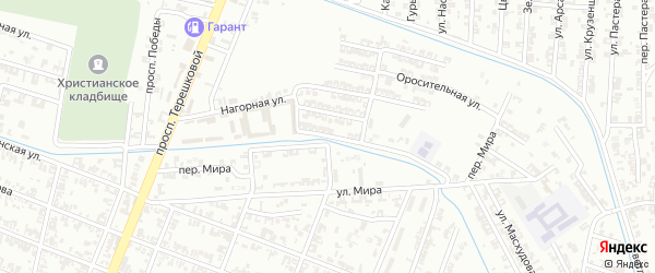 Улица 1-я Сайтиева на карте Гудермеса с номерами домов