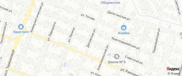 Деповская улица на карте Гудермеса с номерами домов