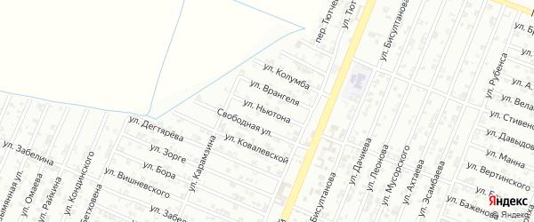 Улица Ньютона на карте Гудермеса с номерами домов
