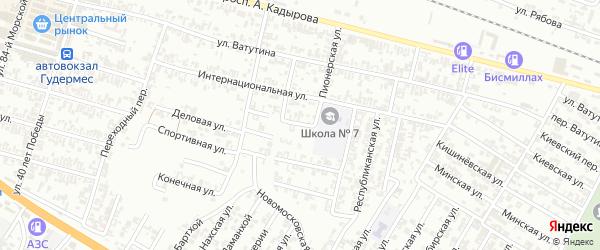 Полевая улица на карте Гудермеса с номерами домов