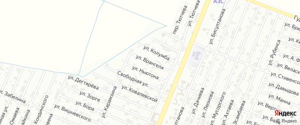 Улица Врангеля на карте Гудермеса с номерами домов