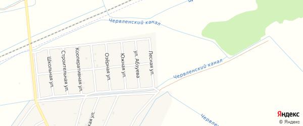 Лесная улица на карте поселка Парабоч с номерами домов