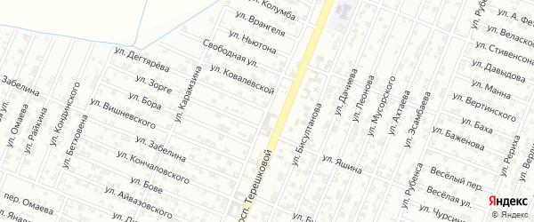 Улица Тютчева на карте Гудермеса с номерами домов