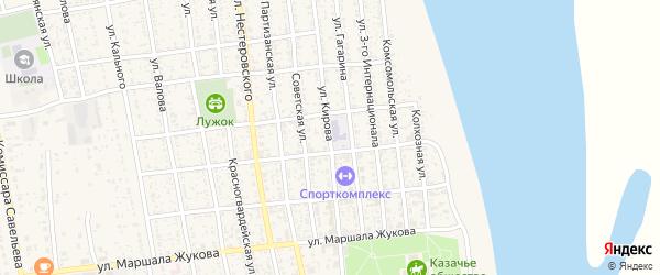 Улица Кирова на карте села Черного Яра с номерами домов