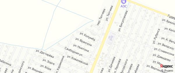 Улица Колумба на карте Гудермеса с номерами домов