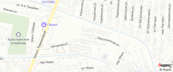 Улица Поняткова на карте Гудермеса с номерами домов
