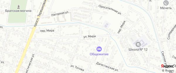 Улица Мира на карте Гудермеса с номерами домов