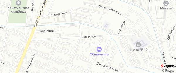 Улица Мира на карте села Верхнего Герзель с номерами домов