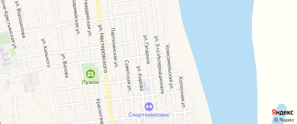 Улица Ю.Гагарина на карте села Черного Яра с номерами домов