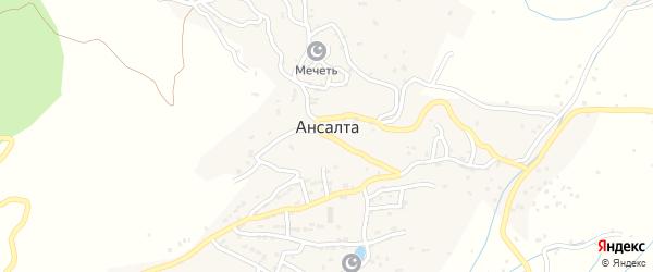 Нижняя улица на карте села Ансалты с номерами домов