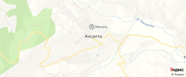 Карта села Ансалты в Дагестане с улицами и номерами домов