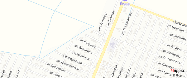 Улица Энштейна на карте Гудермеса с номерами домов